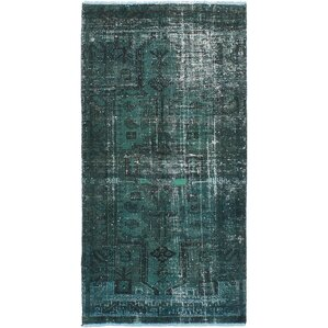 Delightful One Of A Kind Brookfield Hand Knotted Dark Green Area Rug