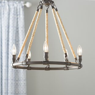 Clip on chandelier shades set wayfair mexico beach 5 light candle style chandelier mozeypictures Choice Image