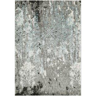 Marian Abstract Modern Gray/Teal Area Rug