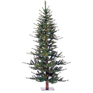 Minnesota Pine 7 Green Artificial Half Christmas Tree With Stand