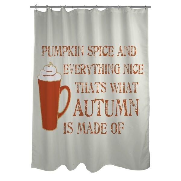One Bella Casa Pumpkin Spice And Everything Nice Shower Curtain Reviews