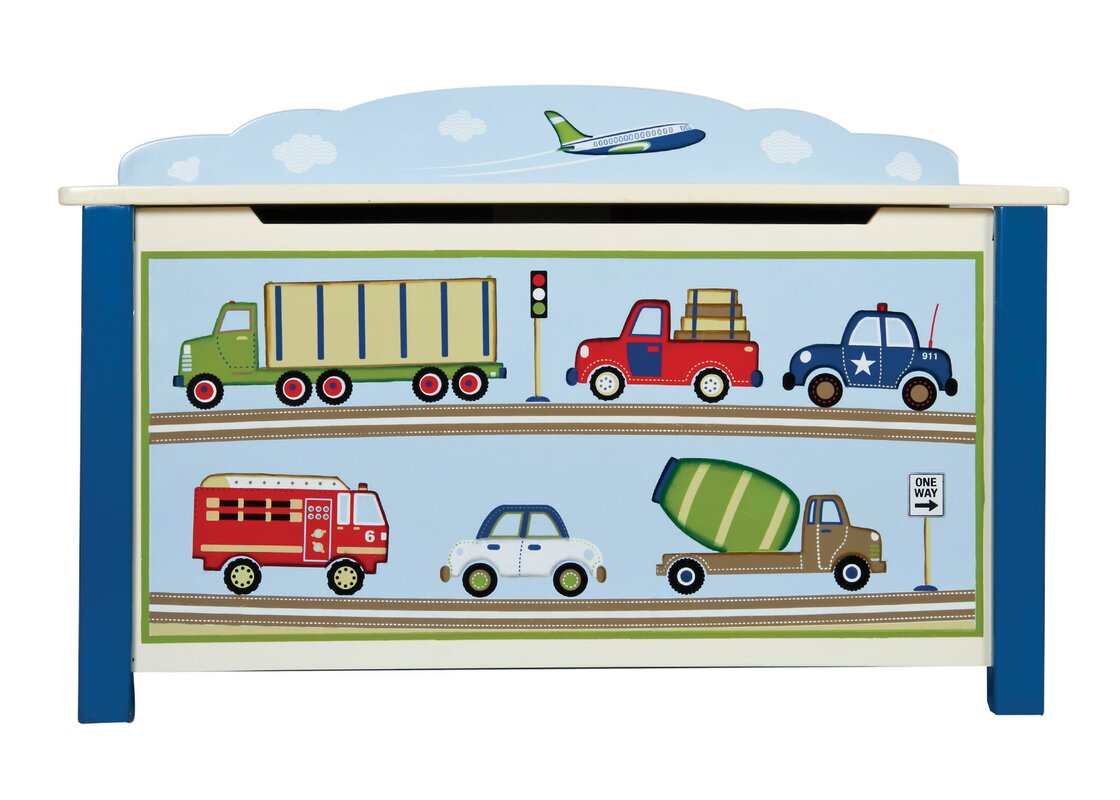 Cars, Fire Truck Themed Toy Boxes & Benches You'll Love | Wayfair