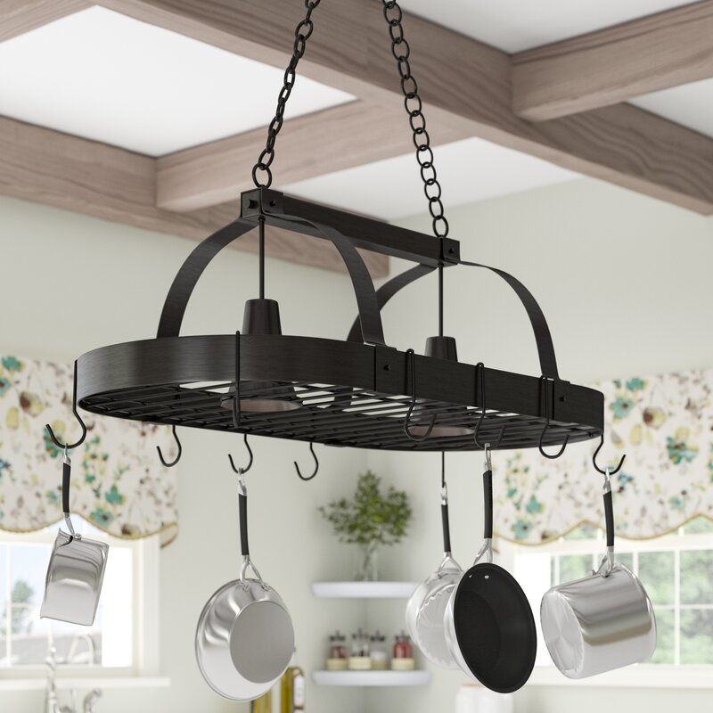 2 Light Kitchen Pot Rack