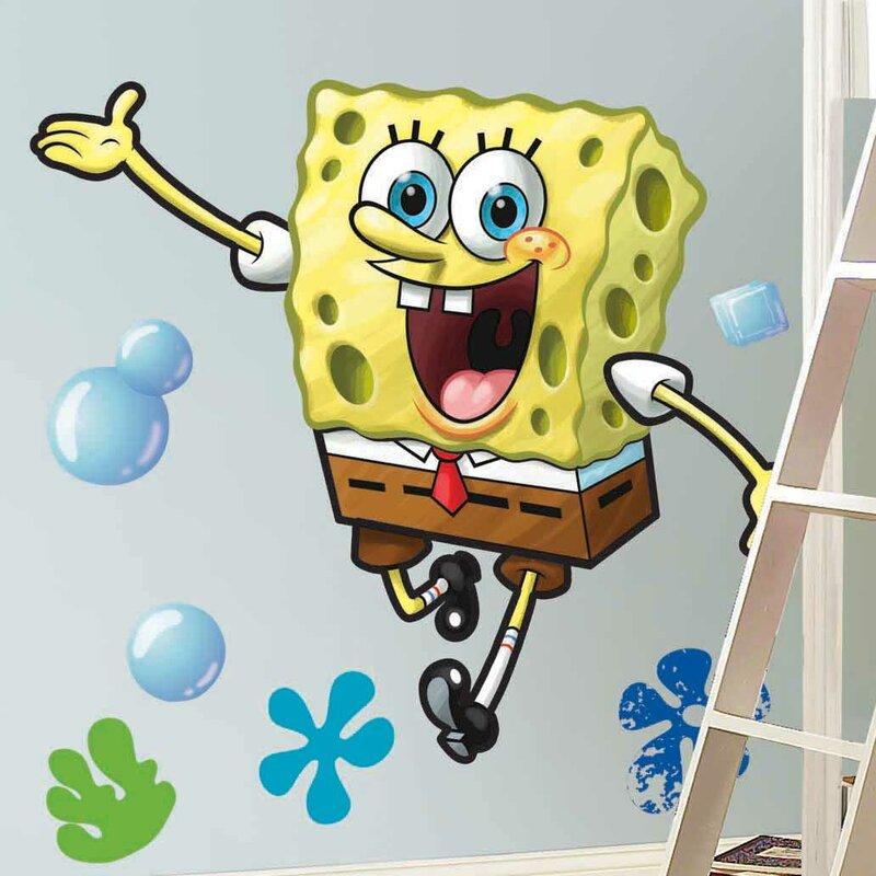Wallhogs SpongeBob Squarepants Cutout Wall Decal | Wayfair.ca