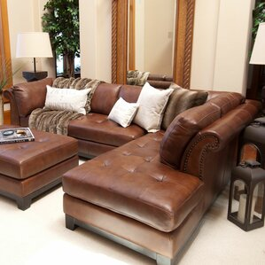 Corsario Leather Reversible Sectional