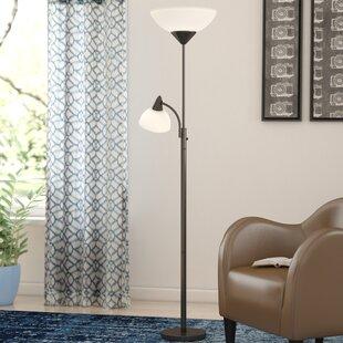 Black wrought iron floor lamp wayfair aloadofball Choice Image