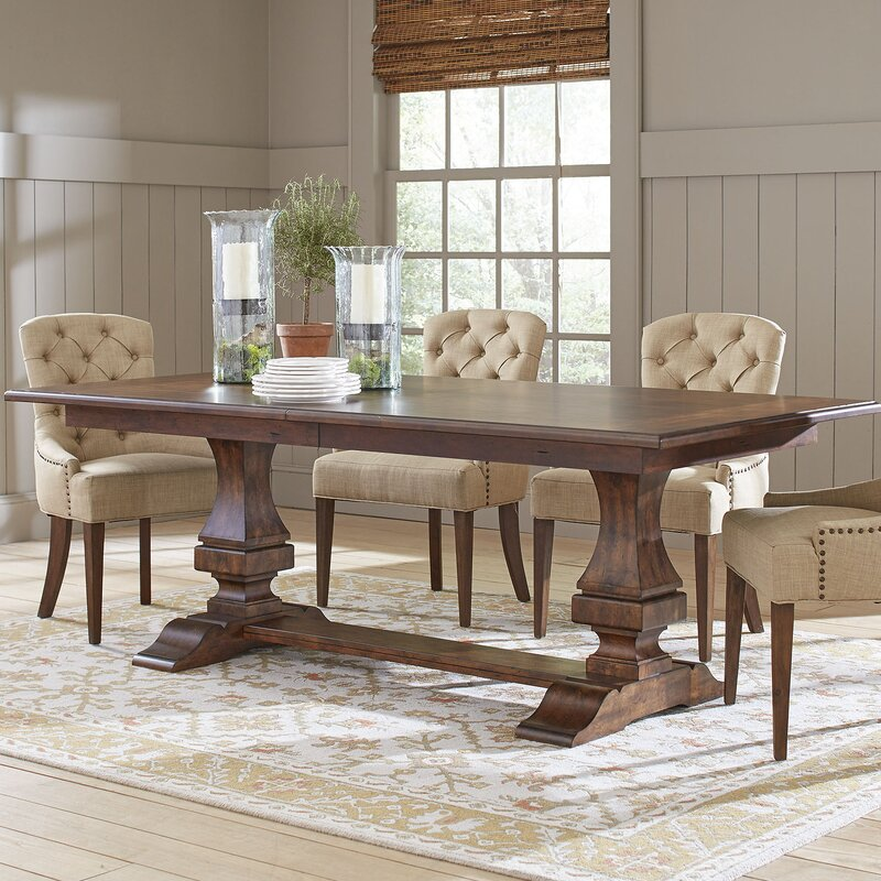 Birch Lane Rollins Extending Dining Table: Birch Lane™ Heritage Schaffer Extendable Dining Table