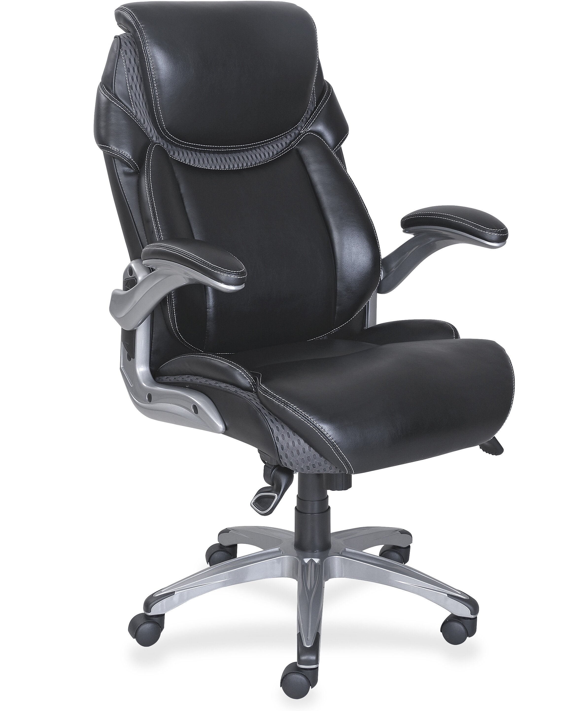 Great Lorell Wellness By Design High Back Leather Executive Chair | Wayfair
