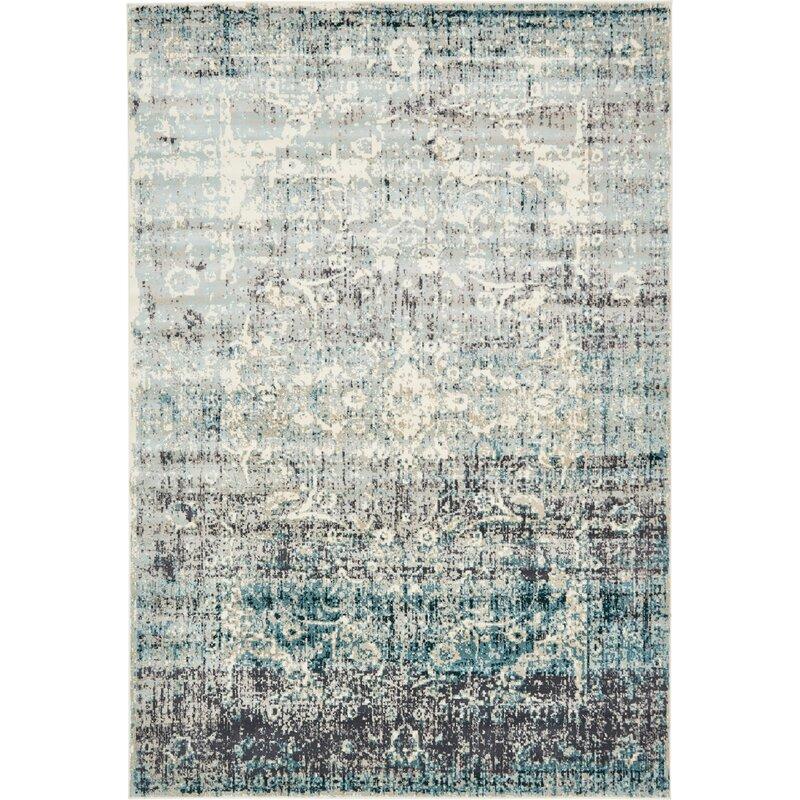 Jayleen Blue Tibetan Area Rug