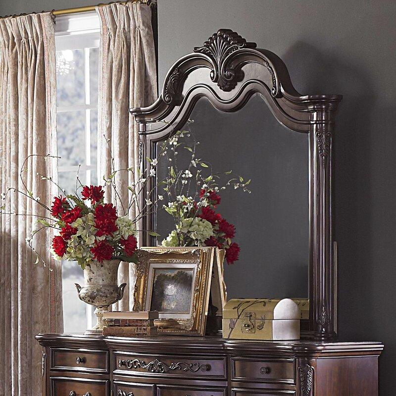 Chalus Crowned Top Dresser Mirror