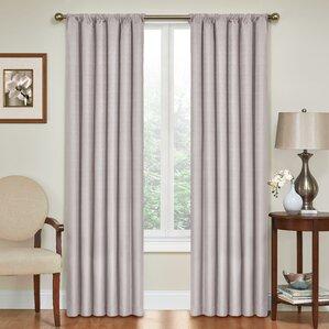 columbia solid blackout thermal rod pocket single curtain panel