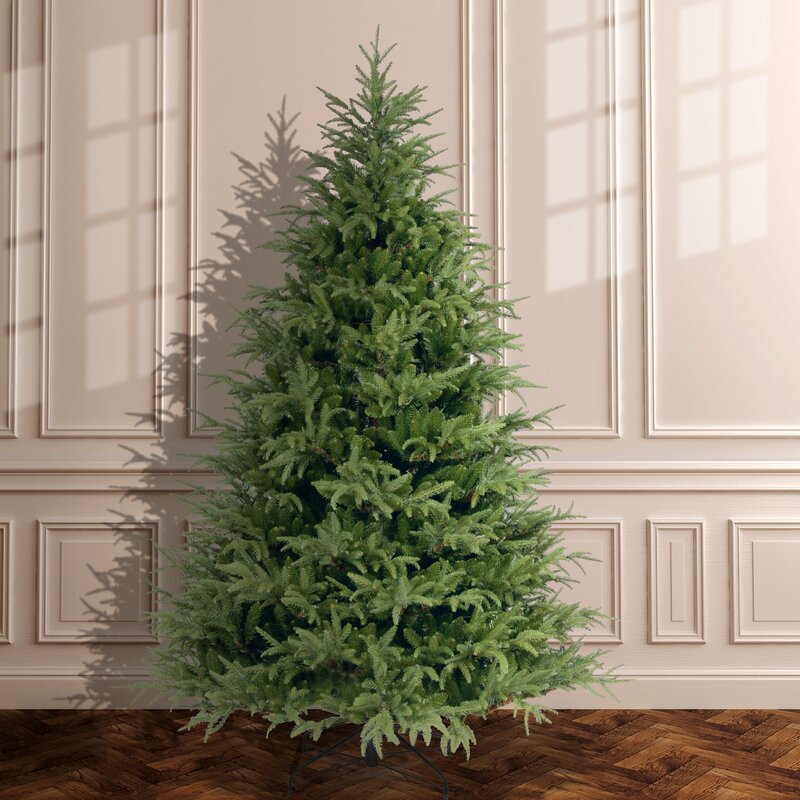 90 green fir artificial christmas tree with stand