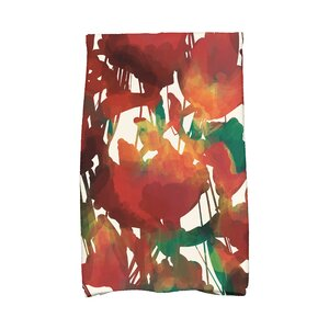 Kam Abstract Floral Print Hand Towel