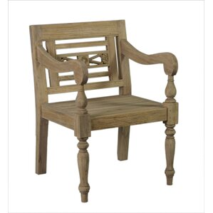 Burnet Carved Wood Armchair by Lark Manor