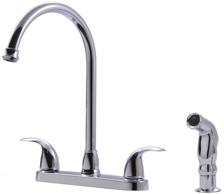 Ultra faucets touch double handle kitchen faucet with side spray reviews - Touch kitchen faucet reviews ...
