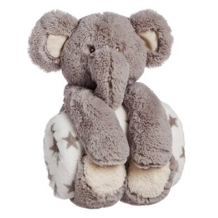 Helle Cuddly Elephant Stuffed Animal Blanket Gift Set