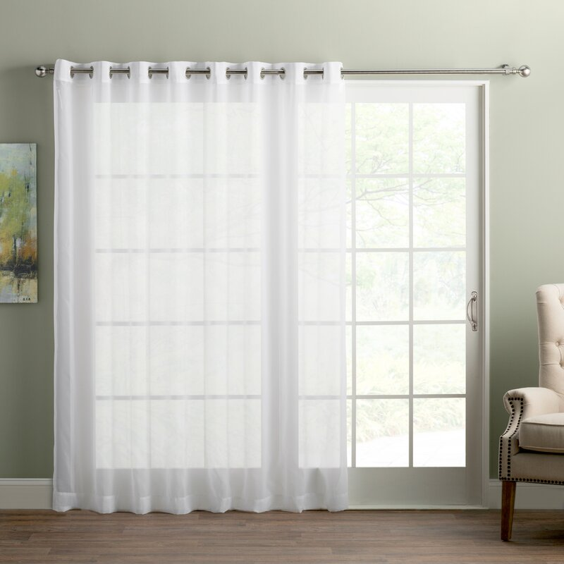 Wayfair Basics Sliding Door Patio Solid Semi Sheer Grommet