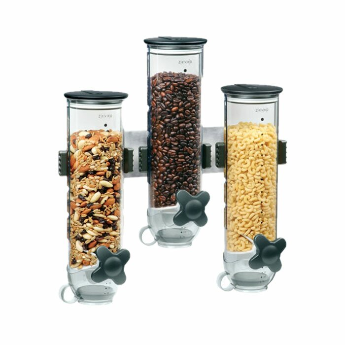 Zevro triple 13 oz 3 container cereal dispenser reviews wayfair 3 container cereal dispenser ccuart Images