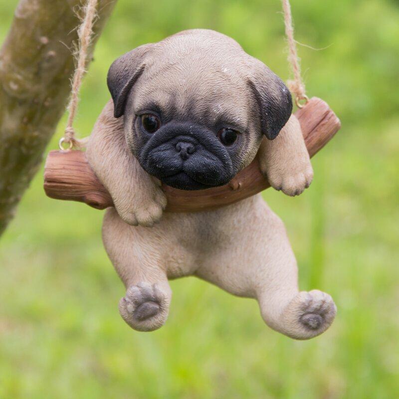 Hi-Line Gift Ltd. Hanging Pug Puppy Statue & Reviews | Wayfair