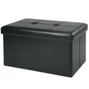 Hockett 8 Pocket Collapsible Storage Ottoman by Winston Porter