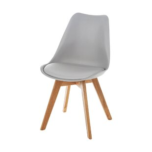 Charles Jacob Genuine Leather Upholstered Dining Chair