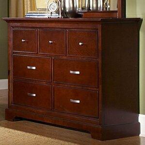 Troxell Dresser in Dark Cherry by Darby Home Co
