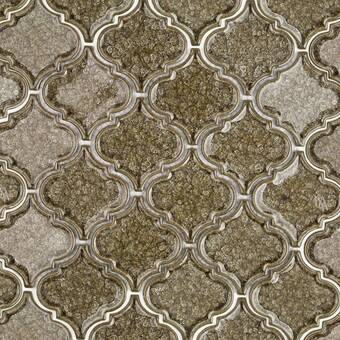 Roman Selection Glass Mosaic Tile in Iced Gold
