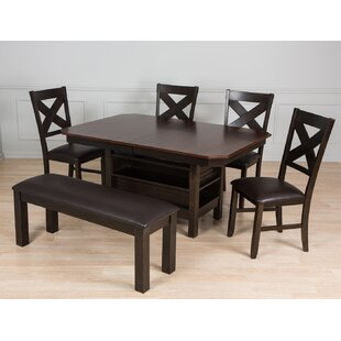 6 Piece Solid Wood Dining Set