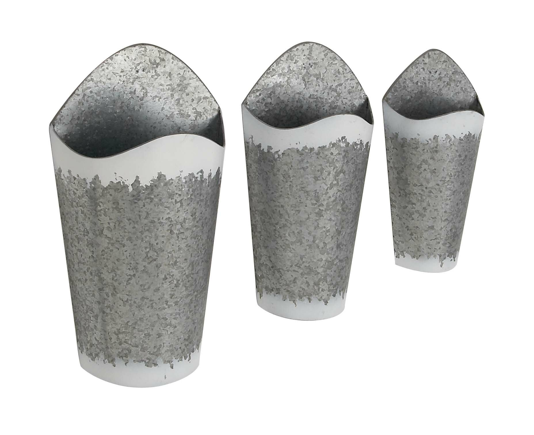 Farmhouse Conical 3 Piece Wall Planter Set Reviews Joss Main