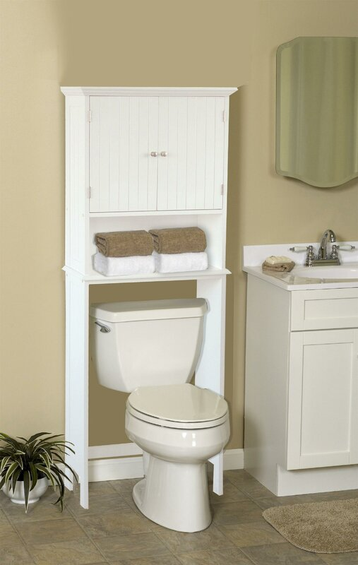 "Bathroom Space Saver jenlea bathroom space saver 24.5"" w x 62.5"" h over the toilet"