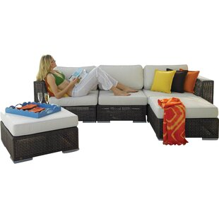 Soho 5 Piece Sunbrella Sectional Set With Cushions