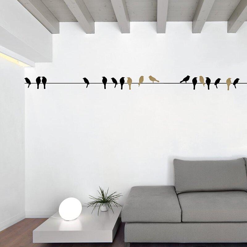 sissylittle birds on a wire wall decal | wayfair