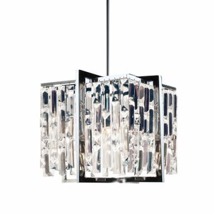 Faunia 4-Light Steel/Crystal Chandelier