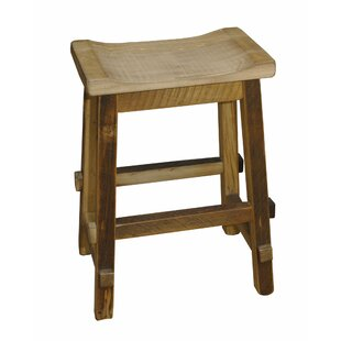 Tulane 30 Barnwood Saddle Stool