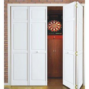Paneled Wood Primed Bi Fold Door