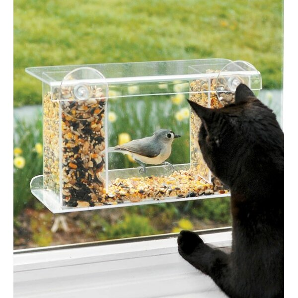 Plow Amp Hearth Window Mount See Through Tray Bird Feeder