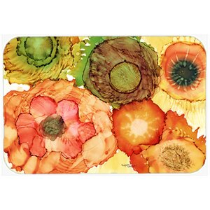 Abstract Flowers Blossoms Kitchen/Bath Mat