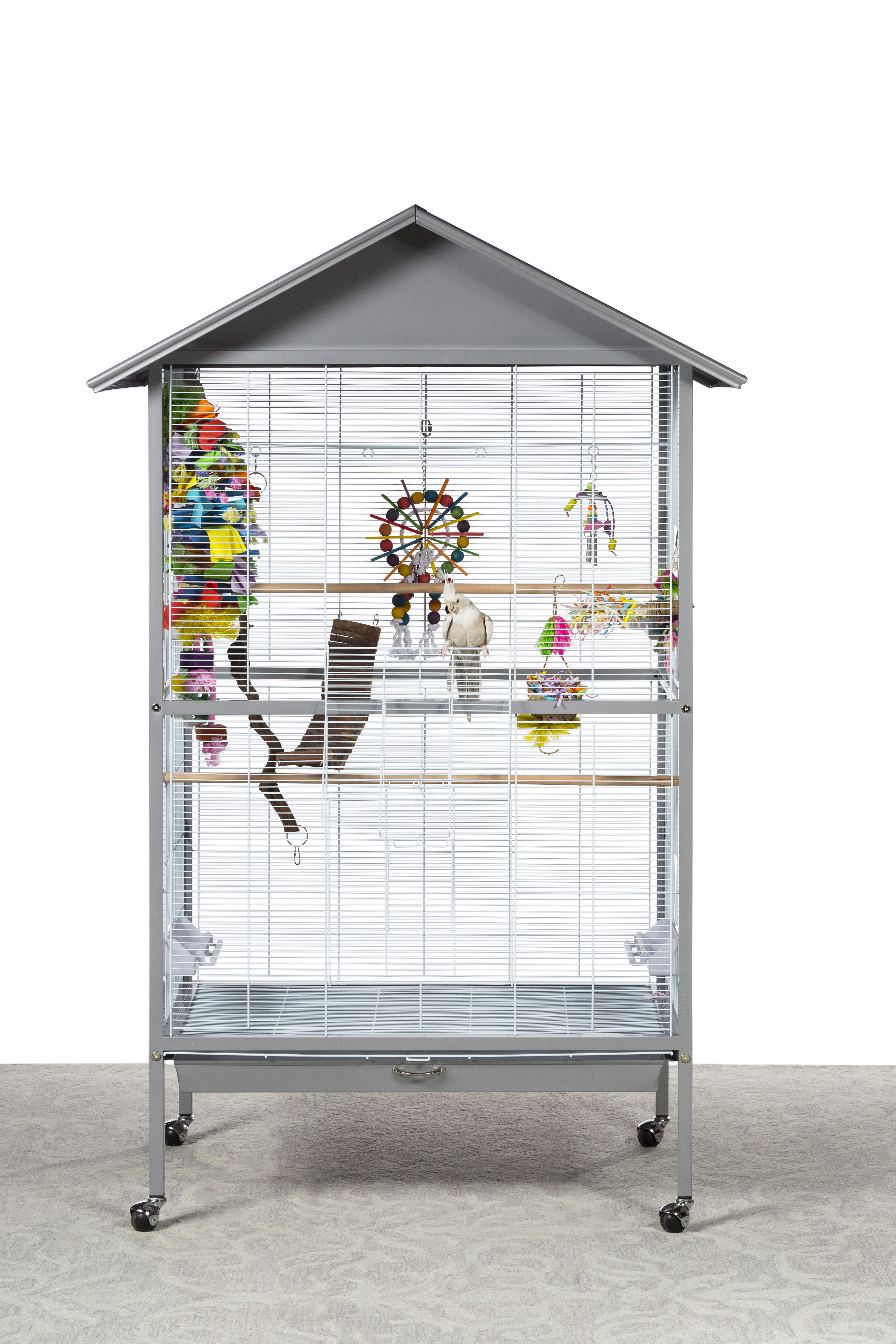 Chao Charming Aviary Large Flight Cage with Wheels/Casters