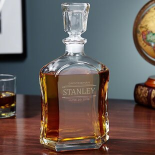220794f6d West Broadway Groomsmen Personalized 24 oz. Whiskey Decanter