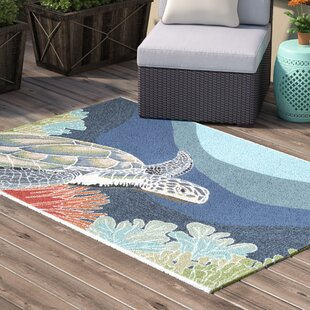 Clowers Akumal Blue Indoor/Outdoor Area Rug