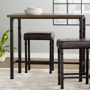 Sevigny 3 Piece Pub Table Set & Breakfast Bar Table Set | Wayfair