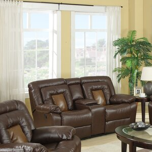 Kmax Leather Reclining Loveseat by Roundhill Furniture