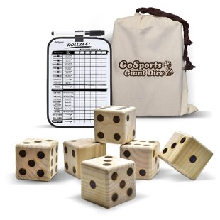 Giant Wooden Dice Set Of 6