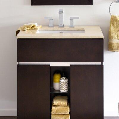 American Standard Studio Ceramic Rectangular Undermount Bathroom Sink with Overflow Sink Color: Bone