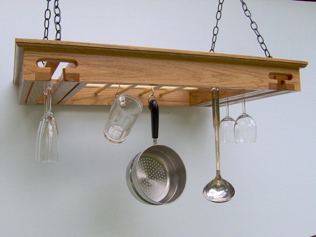 Laurel Highlands Woodshop Wine Glass Hanging Pot Rack ...