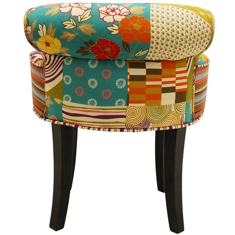 techstyle patchwork vanity stool reviews. Black Bedroom Furniture Sets. Home Design Ideas
