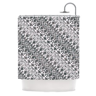 Silver Lace Shower Curtain