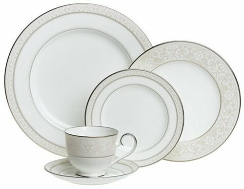 noritake montvale platinum bone china 20 piece dinnerware set service for 4 reviews wayfair. Black Bedroom Furniture Sets. Home Design Ideas