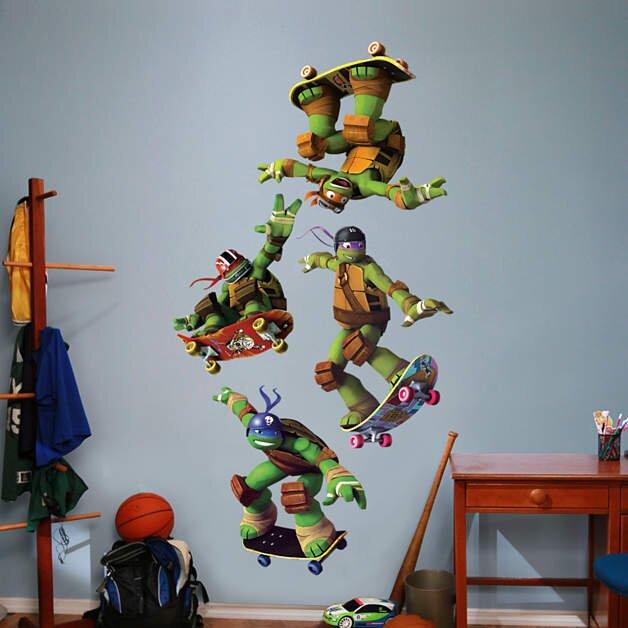 Fathead Nickelodeon Teenage Mutant Ninja Turtles Skateboarding - Ninja turtle wall decals