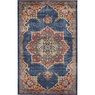 Dulin Blue Rust Red Area Rug